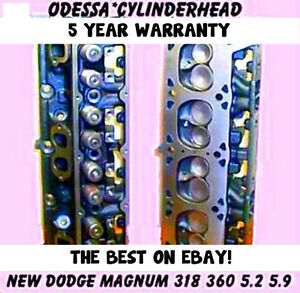 New 2 Dodge Magnum 5 2 5 9 Ohv 318 360 Cylinder Heads 92 04 New Parts No Core