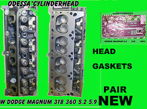 2 New Dodge Jeep Magnum 5 2 5 9 318 360 Cylinder Heads Gasket Set