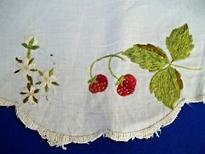 Old Antique Society Hand Embroidery Silk Threads Strawberries As Is 13