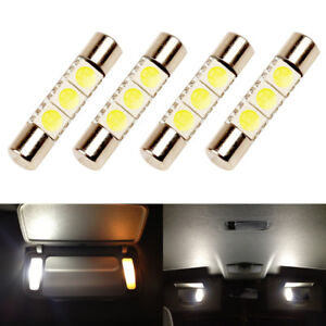 4 X White Led 6614f 6641 Ts 14v1cp F30 Whp Fuse Visor Vanity Mirror Light Bulbs