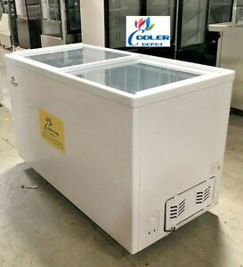 Nsf 53 Inch Glass Top Chest Freezer Sd400 gelato Ice Cream Dipping Cabinet