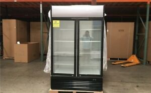 Nsf Etl Two Glass Door Refrigerator Gn2 Beer Flower Cooler restaurant Equipment