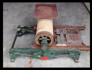 Poco No 0 Proof Press Vintage Printing Press With Printing Letters And Plates