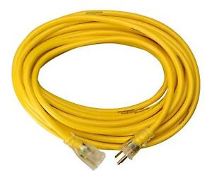 Yellow Jacket 2887 14 3 Heavy duty 15 amp Sjtw Contractor Extension Cord With