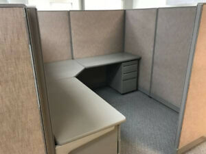 l k 12 Used Office Cubicles 7 X 7 X 65 high
