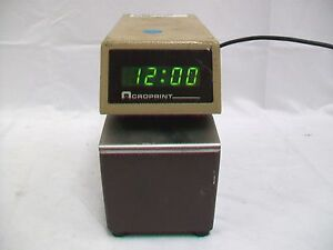 Acroprint Etc Digital Display Time Card Stamp Punch Recorder