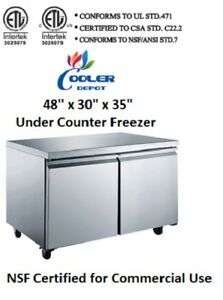 Nsf Under Counter Freezer 48 Ins Tuc48f freezer Refrigerator Under Counter