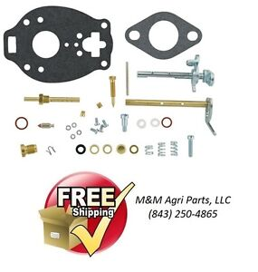 Complete Carburetor Repair Kit Ih Farmall C Tractor Marvel Schebler Tsx319 Carb