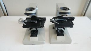 L2 Lot Of 2 Nikon Alphaphot Microscope Base With Stage