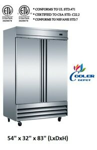 Nsf Two Door Freezer Cfd 2ff commercial Reach In Freezer Refrigerator restaurant