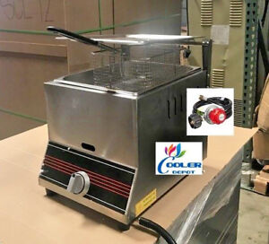 New Single Basket Commercial Deep Fryer Model Fy9 propane Gas Use Counter Top