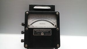 Vintage Weston Voltmeter 433 0 00 To 600vac with Case