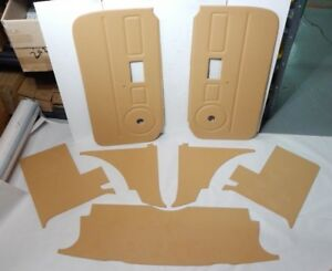 New 7 Piece Interior Panel Set With Door Panels Mgb 1970 80 Biscuit Late Style