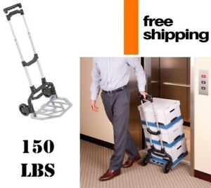 Lightweight Portable Hand Truck Aluminum Folding Dolly Trolley Telescopic Handle