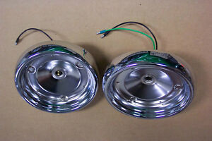 1955 Ford Thunderbird Tail Light Chrome Housings New Pair Show Condition 55