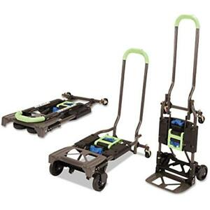 Folding Hand Truck Utility Cart Dolly Trolley Foldable Rolling Portable 300 Lb