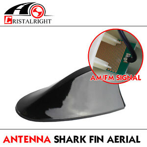 Fast Shipping Black Shark Fin Antenna Receiver Radio Signal Amplifier Booster