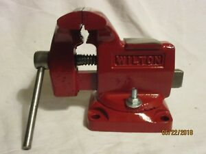 vintage Wilton Bench Vise Swivel Base Anvil 3 1 2 Jaw Width 3 Opening