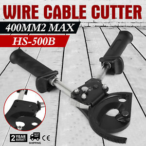 Ratchet Wire Cable Cutter Cut 400mm Carbon Steel Safety Lock Handle Popular