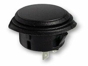 Switch Push Button Black 2p Spst on off 20a 14vdc