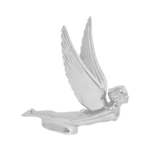 Flying Goddess Hood Ornament Chrome Lady Wing Emblem Truck Accessory Vehicle New