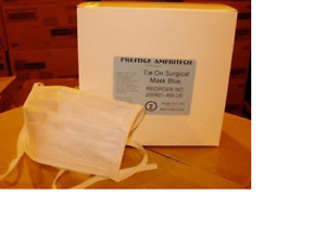 New Case 594 Boxes 29 700 Prestige ameritech Tie on Surgical Mask Latex Free