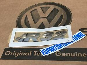 Vw Golf Mk4 R32 Badge Logo Emblem Boot Tailgate Or Engine Cover Genuine Oem Part