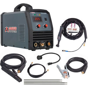 Tig 205 High Frequency 200 Amp Tig torch Welding Stick Arc Dc Welder Combo New