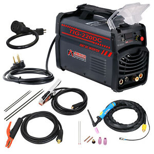 Tig 220dc 220 Amp Tig torch Stick Arc Inverter Dc Welder 120 240v Welding New