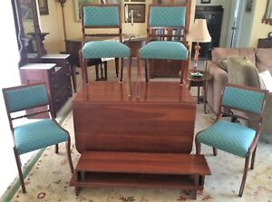 Consider H Willett Elswick Cherry Drop Leaf Dining Table 3 Leaves