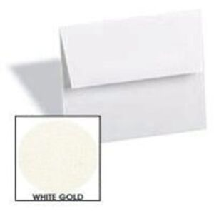 White Gold A6 4 3 4 x 6 1 2 Envelopes 250 pk Metallic Paperpapers 4x6 Qu