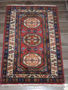 2x3ft Caucasian Shirvan Small Wool Rug