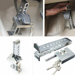 Universal 8 Hole Car Steel Brake Pedal Clutch Lock Auto Anti Theft Security Tool