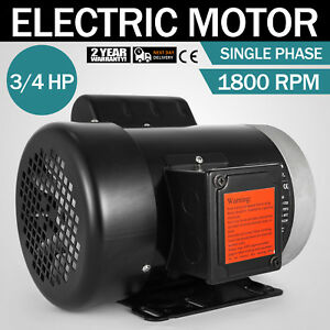 3 4 Hp Electric Motor 56c 1800 Rpm Single Phase Farm Duty 1 Phase Usa
