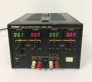 Protek Dual Dc Power Supply Model 3015 With Power Cord