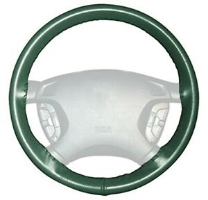Wheelskins Green Genuine Leather Steering Wheel Cover For Fiat