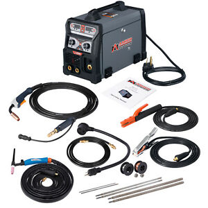 3 in 1 165 Amp Mig Wire Feed flux Cored Tig Torch Stick Arc Welder Welding