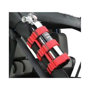 Fit Jeep Wrangler Atv Utv Truck Red Fire Extinguisher Holder Adjustable Roll Bar