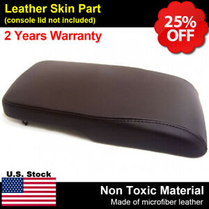 Armrest Center Console Lid Cover Synthetic Leather Fit Toyota Avalon 13 18 Brown