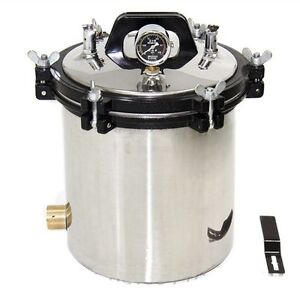18l Large Capacity Stainless Steel Medical Steam Autoclave Sterilizer Tools Sh