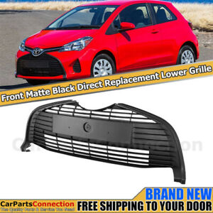 Front Lower Bottom Center Grille For Toyota Yaris Hatchback 15 18 Matte Black