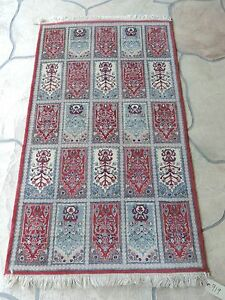 3x5ft Vintage Handmade Garden Panel Wool Prayer Rug
