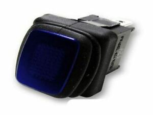 Blue Rectangle Rocker Switch Led 3p Spst On off 20a 12vdc
