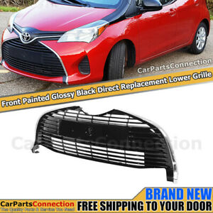 Front Lower Bottom Center Grille For Toyota Yaris Hatchback 15 18 Glossy Black