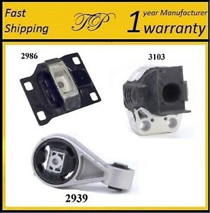 3 Pcs Motor Trans Mount For 2003 2004 Ford Focus 2 3l
