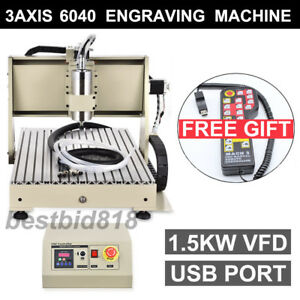 6040 1500w Usb Router Cnc Engraver Engraving Drilling milling Machine controller