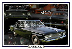 1962 Plymouth Max Wedge Poster Print