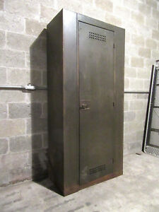 Antique Steel Industrial Steampunk Locker Berloy Berger Salvaged