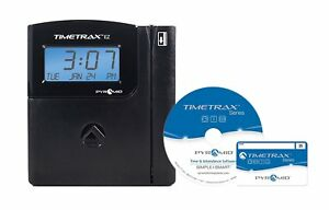 New Pyramid Timetrax Ttezek Automated Swipe Card Time Clock System With Software
