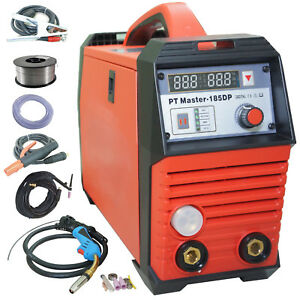 Mig Tig Welder Pulse Aluminum Welder Mag Gas No Gas 185dp 220v 180a Arc Inverter